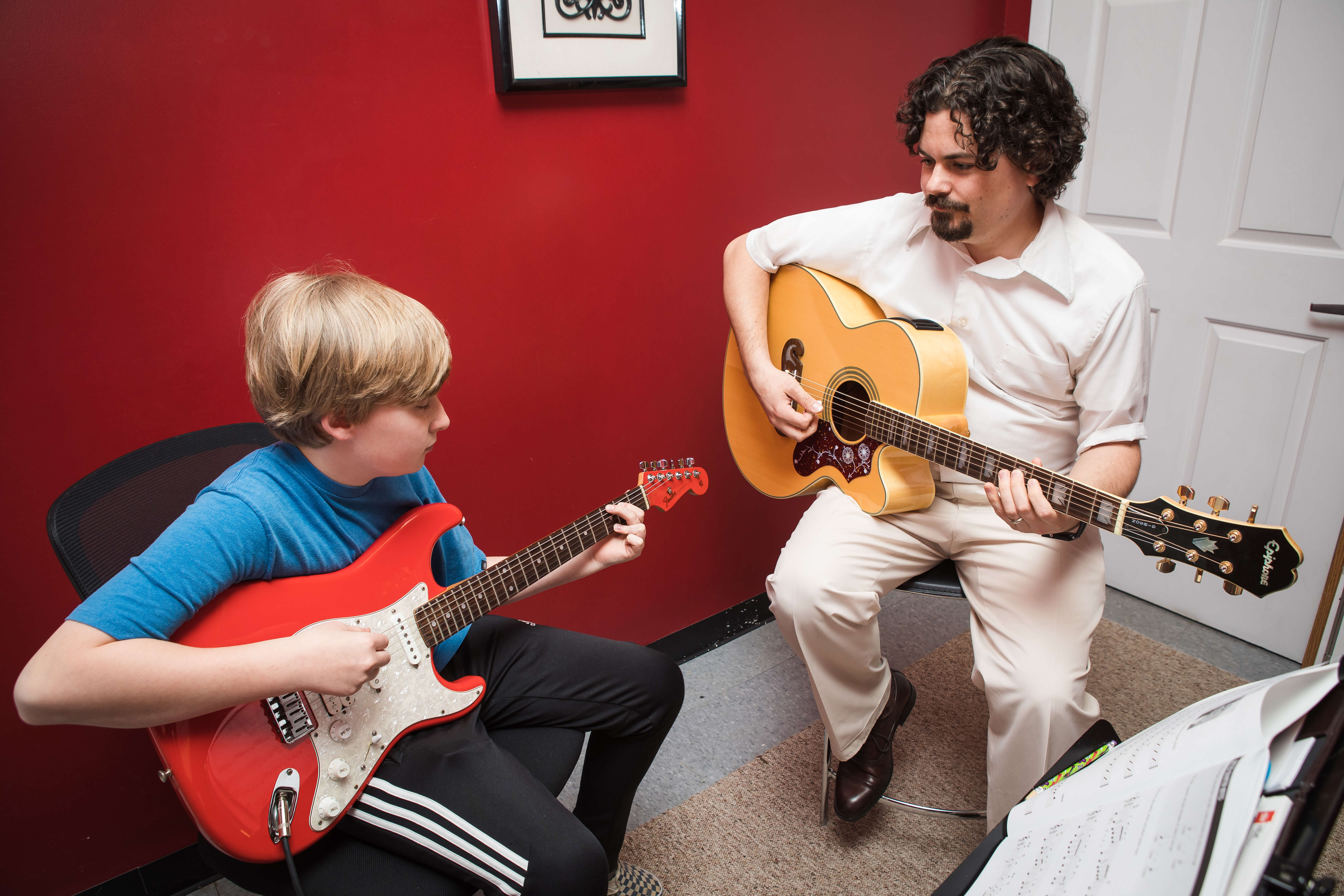 Guitar lessons for StM Page