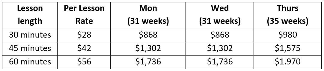 StM Tuition for 2019-2020